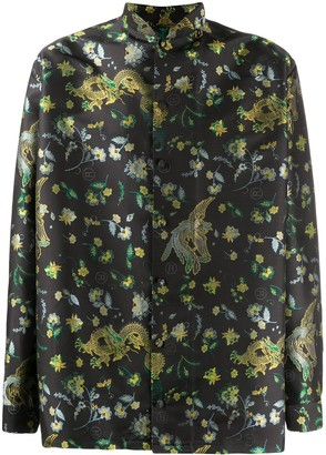 Martine Rose Floral-Print Mandarin Collar Shirt