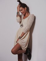 Free People Long Sleeve Lace Slip