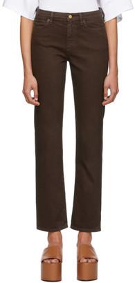 Simon Miller Brown Mid-Rise Slim Straight Jeans