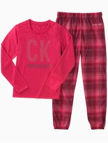 Calvin Klein Girls Logo Plaid Sleep Set
