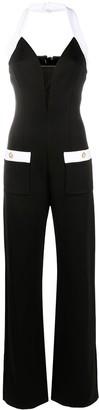Balmain Halterneck Jersey Jumpsuit