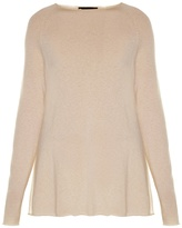 The Row Banny slash-neck cashmere and silk-blend sweater