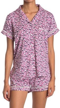 Vera Bradley Ladder Lace Floral Pajama Top
