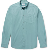 Norse Projects Anton Slim-fit Garment-dyed Cotton-poplin Shirt - Gray green