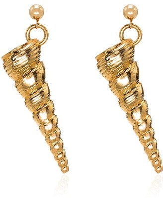 Tohum cone drop earrings