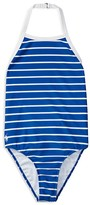Ralph Lauren Girls' Striped One Piece Swimsuit - Sizes 7-16