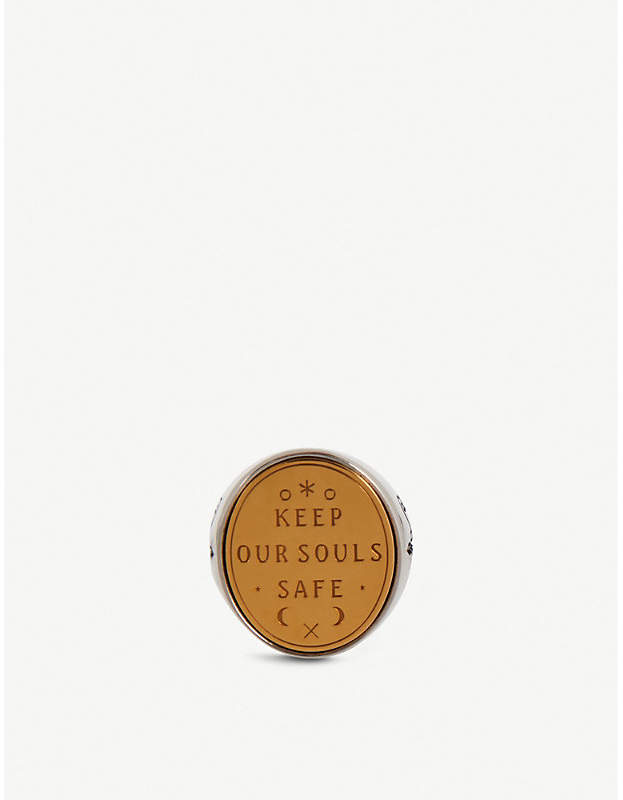 Givenchy Keep Our Souls Safe silver-tone ring