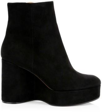 Clergerie Belen2 Platform Suede Ankle Boots