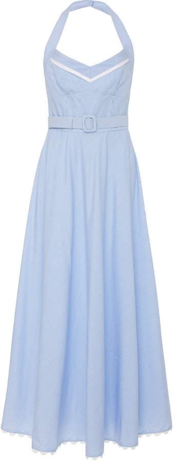 Evi Grintela Caroline Belted Cotton Maxi Dress