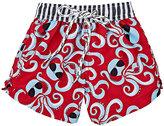 Snapper Rock Octopus-Print Swim Trunks-RED