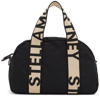 Stella McCartney Black ECONYL Medium Boston Bag
