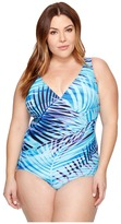 Miraclesuit Plus Size Palm Reader Oceanus One-Piece Women's Swimsuits One Piece