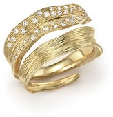 Michael Aram 18K Yellow Gold Palm Bypass Ring with Diamonds