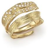Michael Aram 18K Yellow Gold Palm Bypass Ring with Diamonds