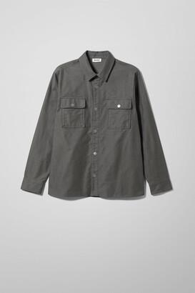 Weekday Irwin Moleskin Overshirt - Grey