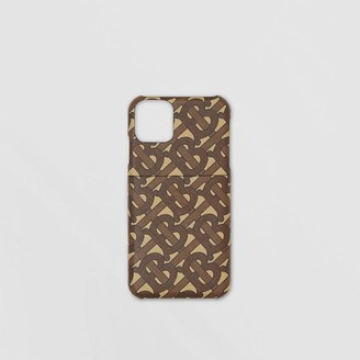 Burberry Monogram Print E-canvas iPhone 11 Pro Case