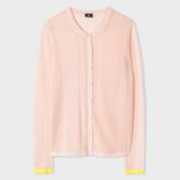 Paul Smith Women's Light Pink Mixed-Crochet Cotton Cardigan