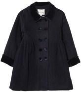 Rachel Riley Navy Wool Coat with Velvet Collar