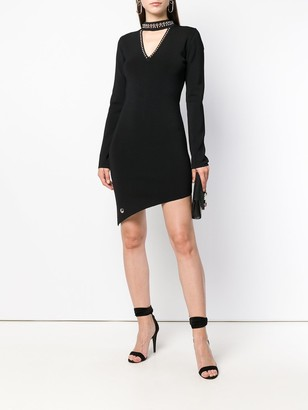 Philipp Plein Studded Asymmetric Dress