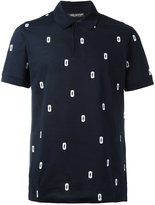 Neil Barrett Razor Blade Lightning Bolt polo shirt