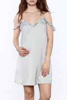 Motel Rocks Silver Slip Dress