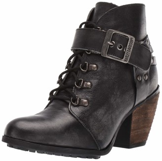 "Harley-Davidson Women's Ashland/Grey 7"" Lace/Hrns Bkl Dress Shoe"