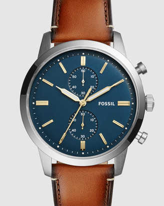 Fossil Townsman Brown Chronograph Watch