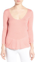 Cupcakes And Cashmere &Wink& Stripe Scoop Neck Top