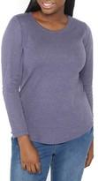 Evans Plus Size Women's Curved Hem Tee