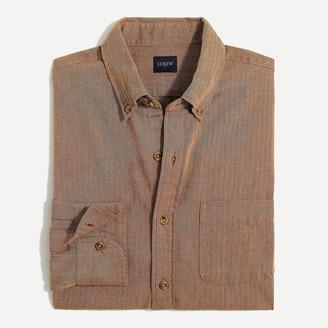 J.Crew Herringbone brushed twill shirt