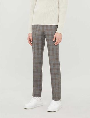 Reiss Ringmer slim-fit check-pattern wool trousers