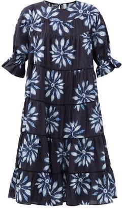 Merlette New York Paradis Tiered Shibori-dyed Cotton Sun Dress - Blue Multi