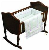 Baby Doll Bedding Royal Classic Cradle Bedding Set - Lavender