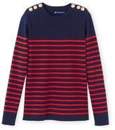 Petit Bateau Womens striped cotton sailor sweater