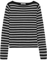 Max Mara Striped Cashmere Sweater - Black