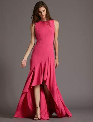 Halston Boatneck Crepe Gown