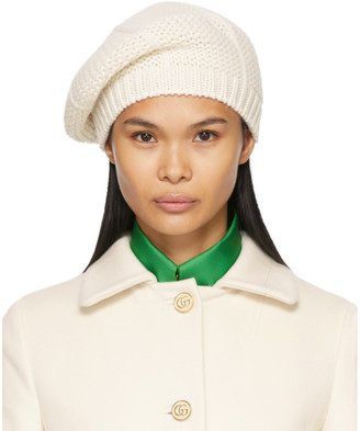 Gucci White Wool Knit Beret