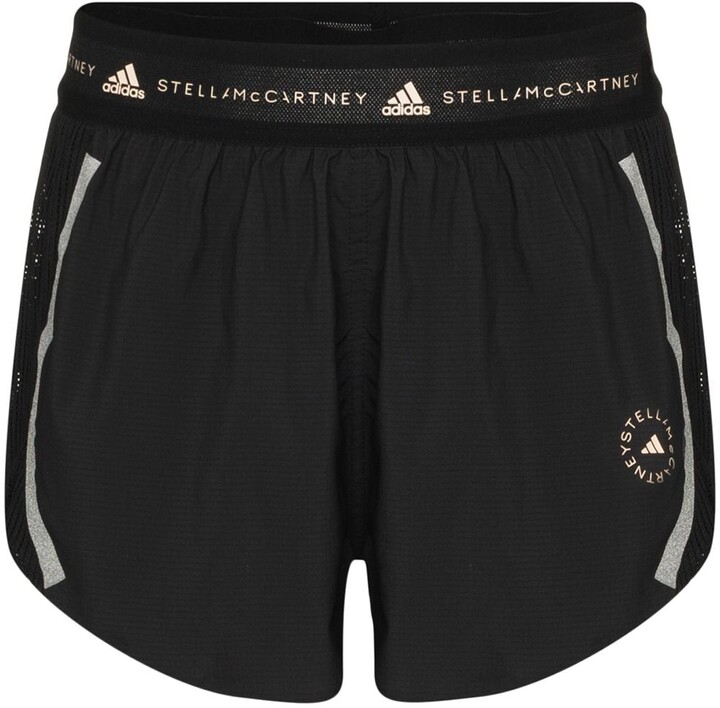 Thumbnail for your product : adidas by Stella McCartney Logo Waistband Running Shorts