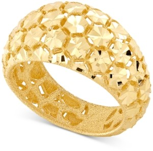 Effy Oro by Bead-Design Wide-Band Statement Ring in 14k Gold