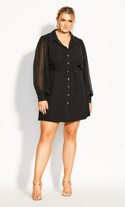 City Chic Love Me Tunic - black