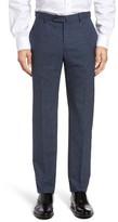 Incotex Men's Flat Front Plaid Wool Trousers
