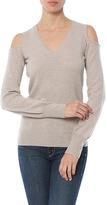Autumn Cashmere Cold Shoulder V-Neck Sweater