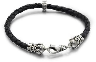King Baby Studio Leather Crown Bracelet
