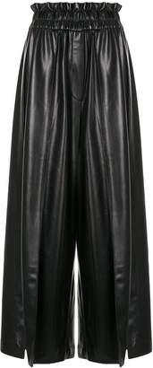 GOEN.J vegan leather palazzo pants