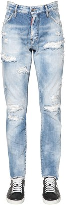 DSQUARED2 16.5CM SEXY MERCURY RAINBOW DENIM JEANS