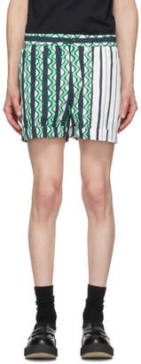 Neil Barrett Green Multi-Print Shorts