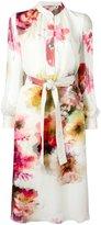 Lanvin belted floral shirt dress