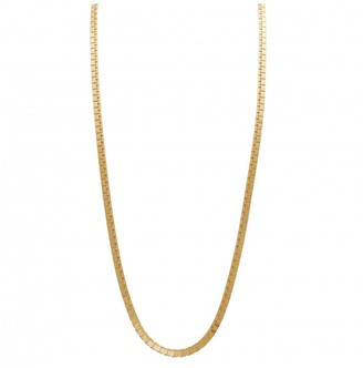 Simply Silver Sterling Silver 14ct Yellow Gold Flat High Shine Necklace