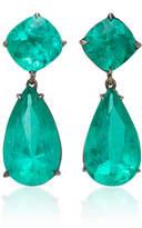 Lorraine Schwartz One-Of-A-Kind 18K Black Gold Emerald Drop Earrings