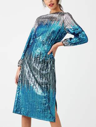 Very Ombre Sequin Dress - Silver